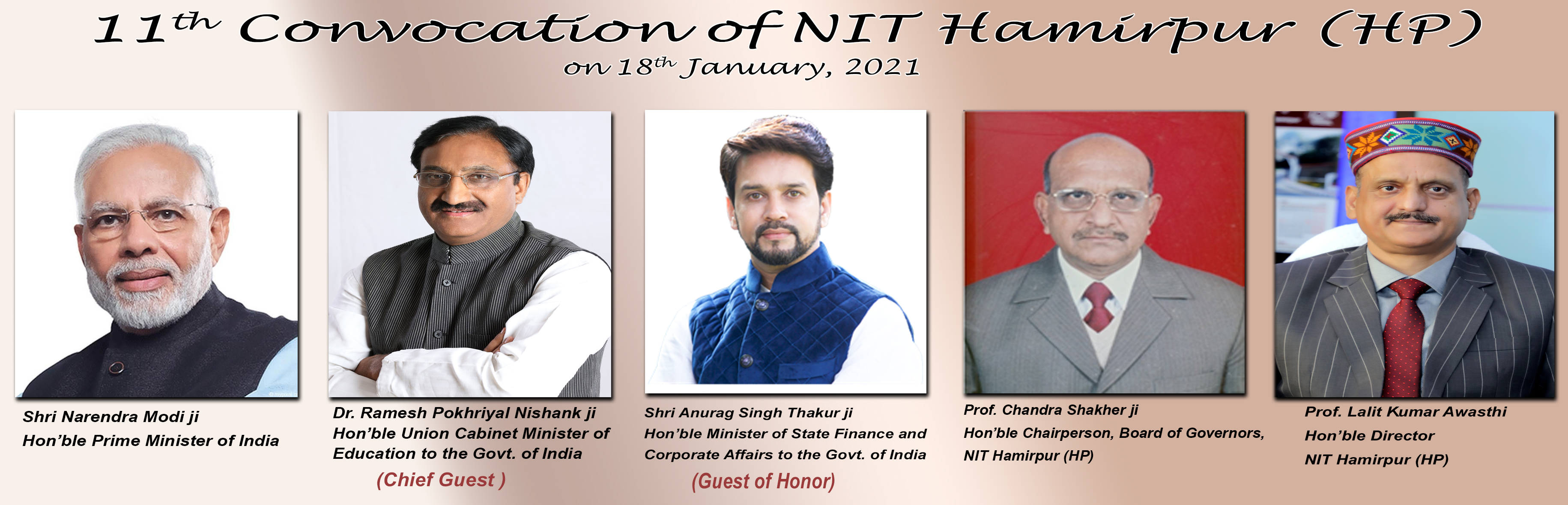 11th Convocation NIT Hamirpur
